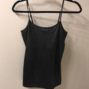 White House Black Market shimmer black camisole